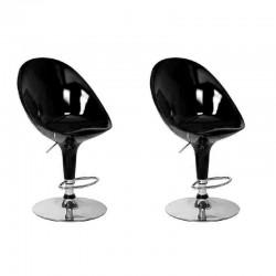 Sgabello MONACO XH-108, coppia sgabelli design,stool nero