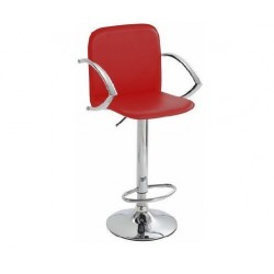 SGABELLO TOKIO (XH 101-2),BLACK SHINNING PVC LEATHER COVERED rosso, coppia di sgabelli design, stool,PVC