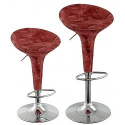 sgabello ATENE JEANS, coppia di sgabelli design modello jeans rosso