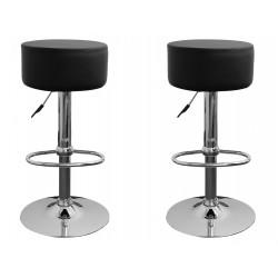 sgabello HAMBURG (XH-215-1), coppia di sgabelli design, stool. nero