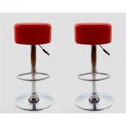 sgabello HAMBURG (XH-215-1), coppia di sgabelli design, stool. rosso