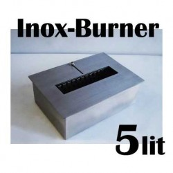 BRUCIATORE 5,0 lit FDB27 professionale acciaio inox per biocamino