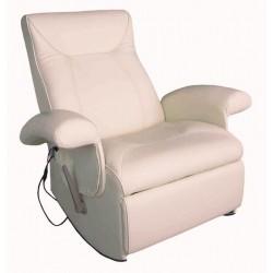 POLTRONA MASSAGGIANTE CAROL SA019HV, bianca relax ,riscaldata vibrante