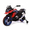 Moto Motocicletta Elettrica 12V Per Bambini Touring Rosso Dugez