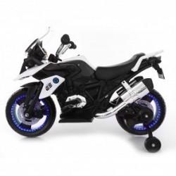 Moto Motocicletta Elettrica 12V Per Bambini Touring Bianco Dugez