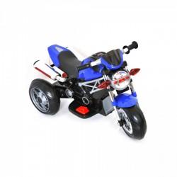 Moto Motocicletta Elettrica Naked Blu 6V Per Bambini Dugez
