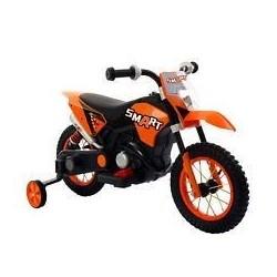 Moto Motocicletta Elettrica 6V Per Bambini Minicross Orange Dugez