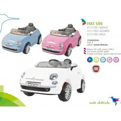 Auto Macchina Elettrica Fiat 500 bianca 12V Per Bambini