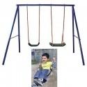 ALTALENA DOPPIA IN METALLO ETCD-S004, altalena per bambini