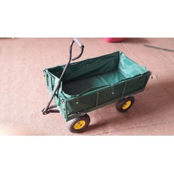 CARRELLO GIARDINAGGIO TC1016, con borsa in plastica con manici ,Carriola Carrellino da Giardino di Qualità