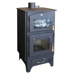 Stufa a legna con forno in acciaio INOX NATALY AIR 16 KW