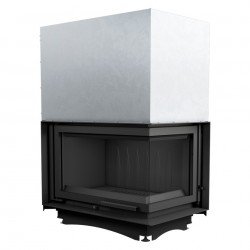 MEGALINE cm.78 SMALL GLASS Bianco Biofireplace Bio fireplaces ethanol fireplace
