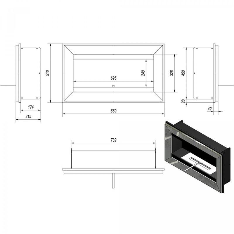 biokamin bio ethanol kamine gel mod amore eta027 camini. Black Bedroom Furniture Sets. Home Design Ideas