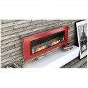 Biocamino 110x40X15 cm rosso con vetro FD94 Leonardo