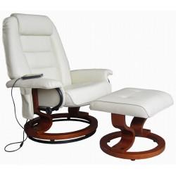 POLTRONA MASSAGGIANTE ALICE VSA061 bianca , Poltrona relax , vibrante, ecopelle , poltroncina TV , massaggi .